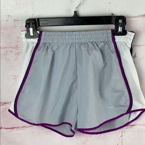 NIKE DRI-FIT Gray Lined Running Shorts